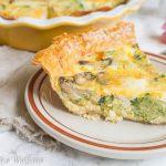 Broccoli Mushroom Cheddar Quiche