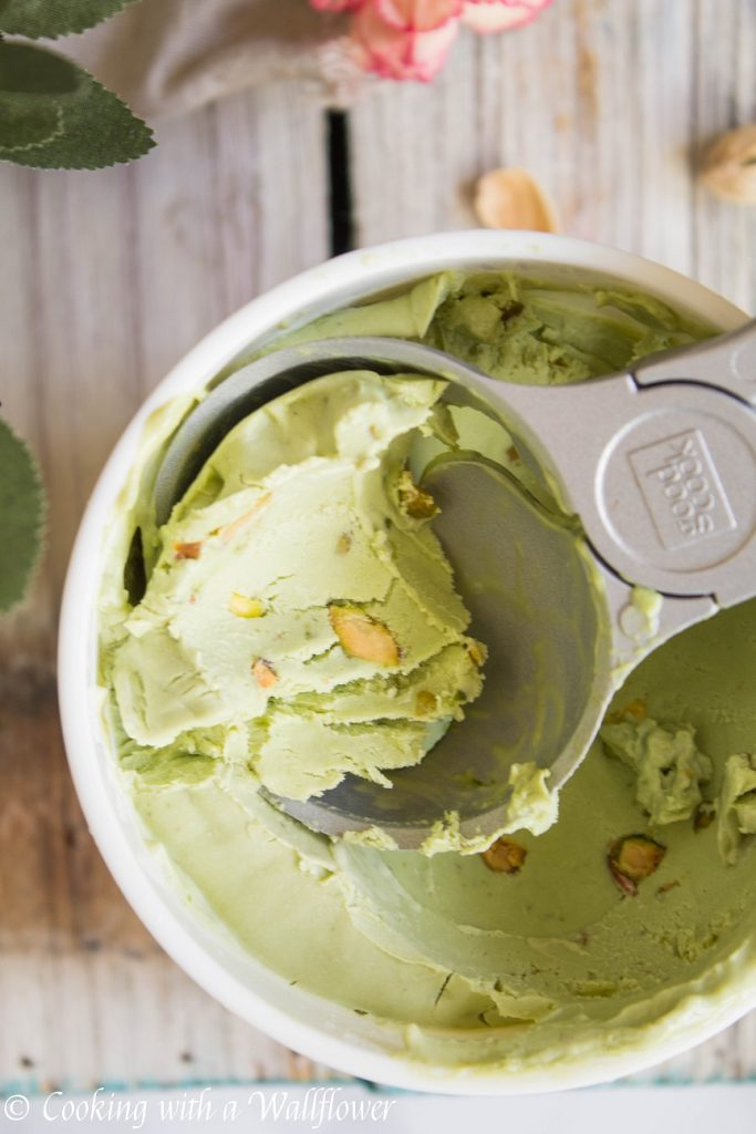 Matcha Green Tea Pistachio Ice Cream | Cooking with a Wallflower