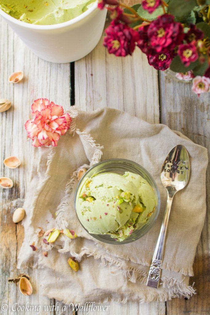 Matcha Green Tea Pistachio Ice Cream   Cooking with a Wallflower