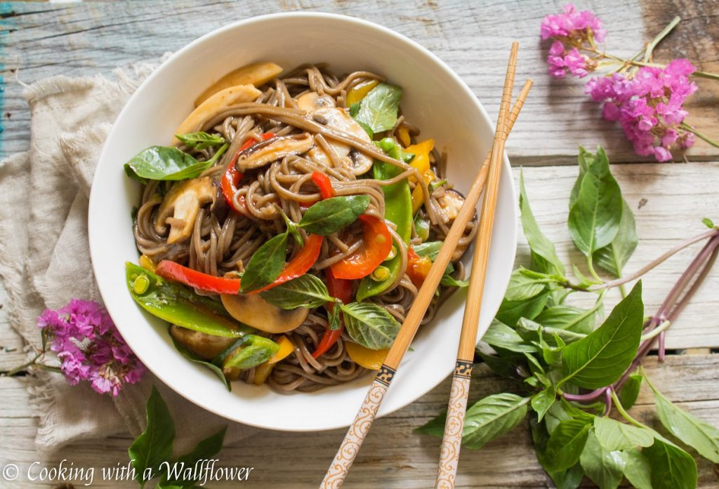Mixed Vegetable Soba Noodle | Cooking with a Wallflower