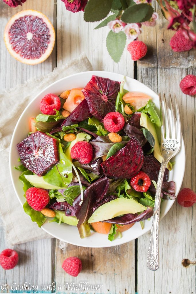 Roasted Beet Salad with Blood Orange Balsamic Vinaigrette | Cooking with a Wallflower