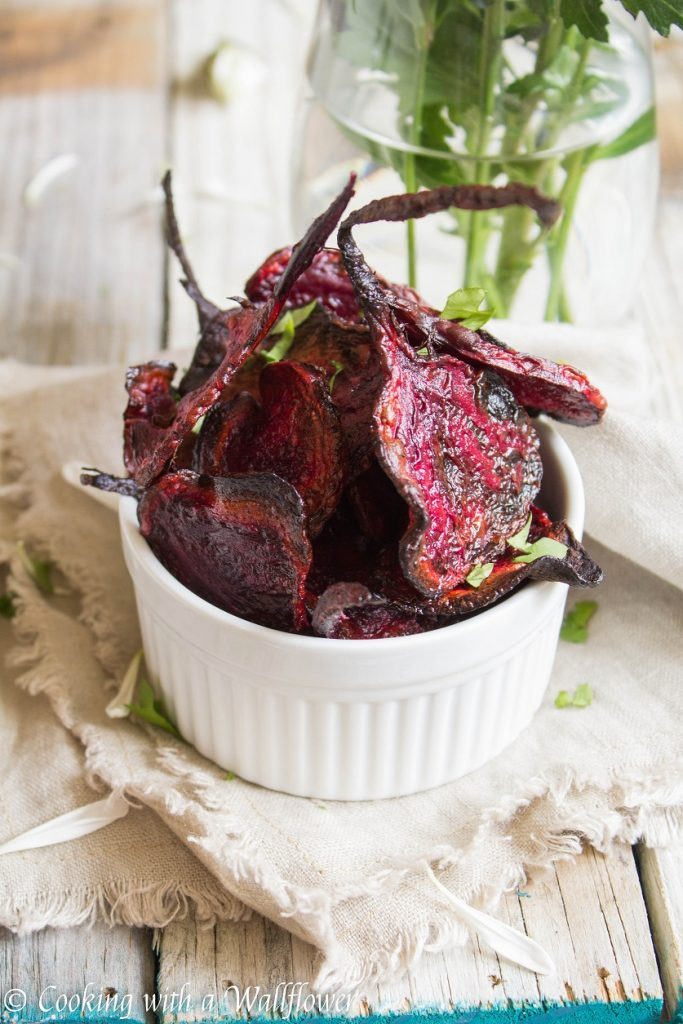 Baked Sea Salt and Pepper Beet Chips | Cooking with a Wallflower