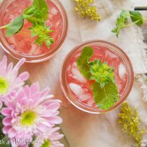 Grapefruit Hibiscus Lemonade | Cooking with a Wallflower
