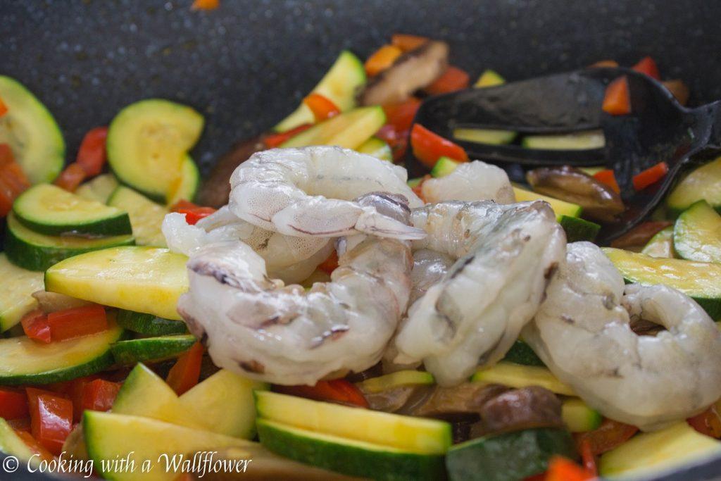 Sesame Shrimp Vegetable Soba Noodle | Cooking with a Wallflower