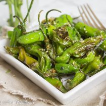 Blistered Sesame Shishito Peppers | Cooking with a Wallflower