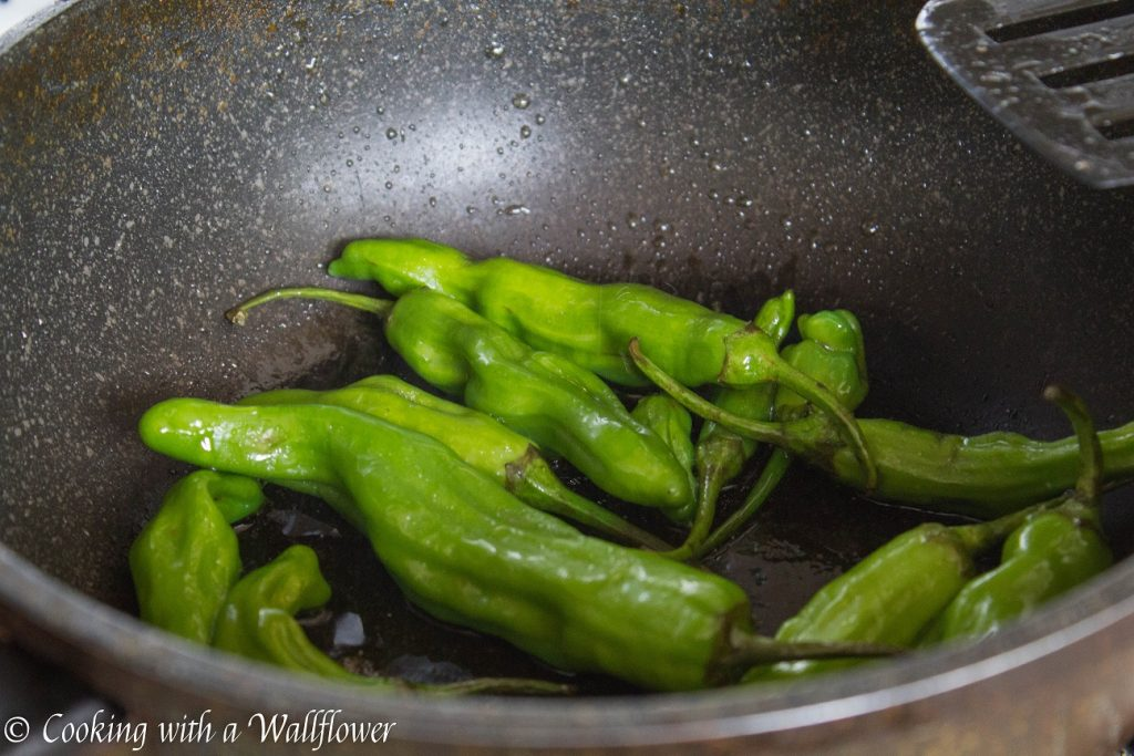 Blistered Garlic Sesame Shishito Peppers | Cooking with a Wallflower