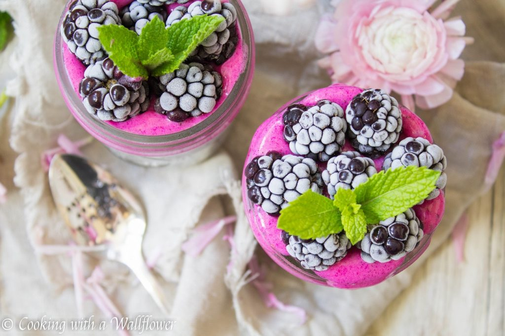 Dragon Fruit Layered Overnight Chia Pudding | Cooking with a Wallflower