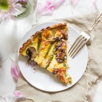 Roasted Asparagus Mushroom Quiche | Cooking with a Wallflower