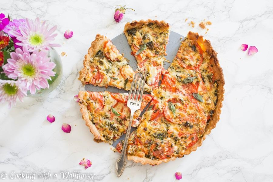 Tomato Basil Mozzarella Tart | Cooking with a Wallflower