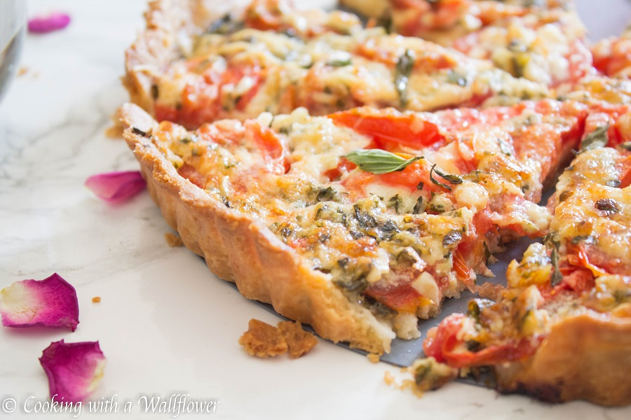 Tomato Basil Mozzarella Tart | Cooking with a Wallflower