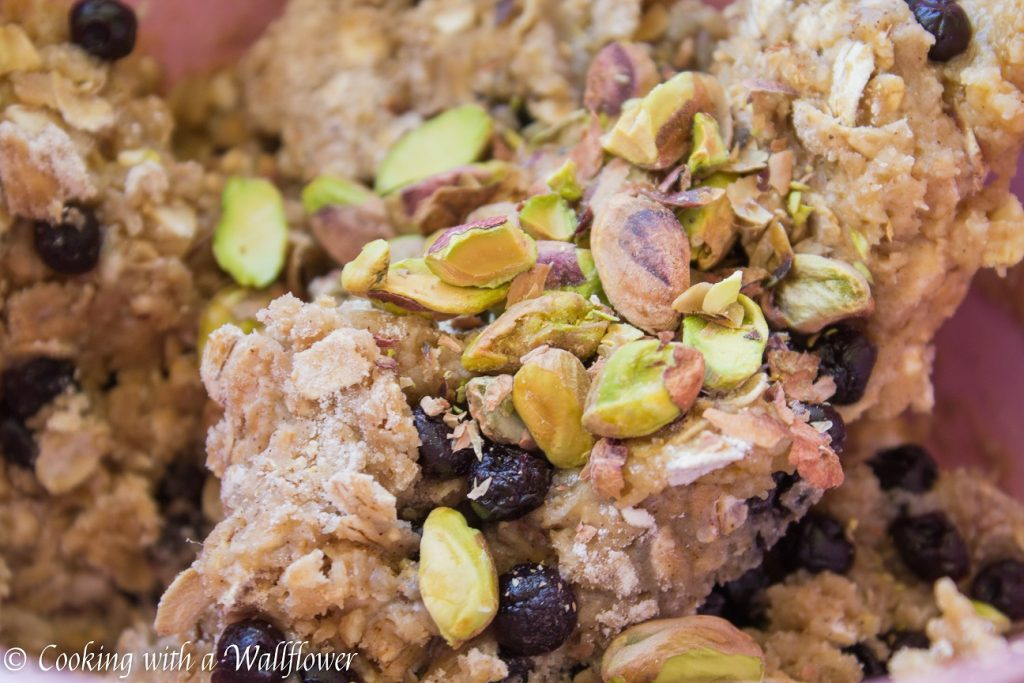 Wild Blueberry Pistachio Oatmeal Cookies | Cooking with a Wallflower