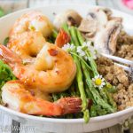 Spicy Honey Garlic Shrimp Quinoa Bowl