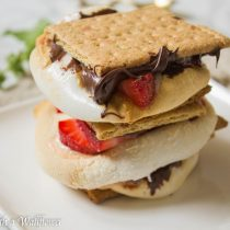 Strawberry Nutella S'mores | Cooking with a Wallflower