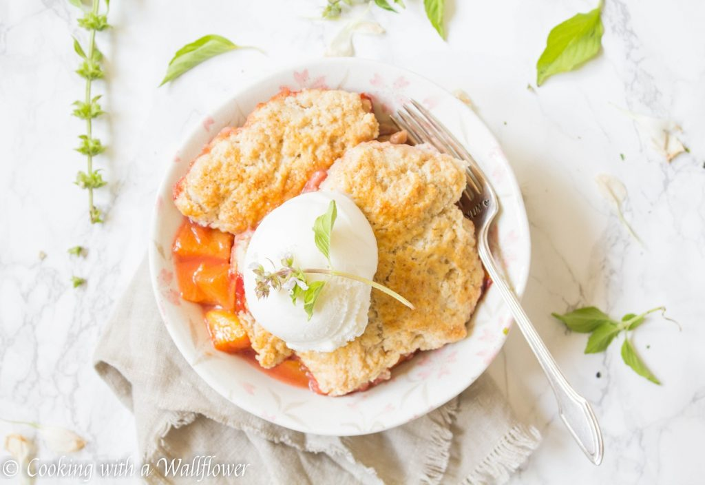 Strawberry Peach Cobbler a La Mode | Cooking with a Wallflower
