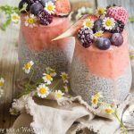 Strawberry Peach Layered Chia Pudding