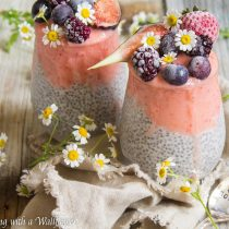 Strawberry Peach Layered Chia Pudding | Cooking with a Wallflower