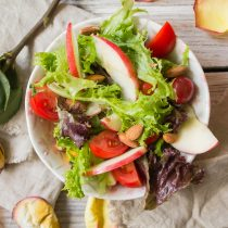 Autumn Apple Salad with Maple Balsamic Vinaigrette | Cooking with a Wallflower