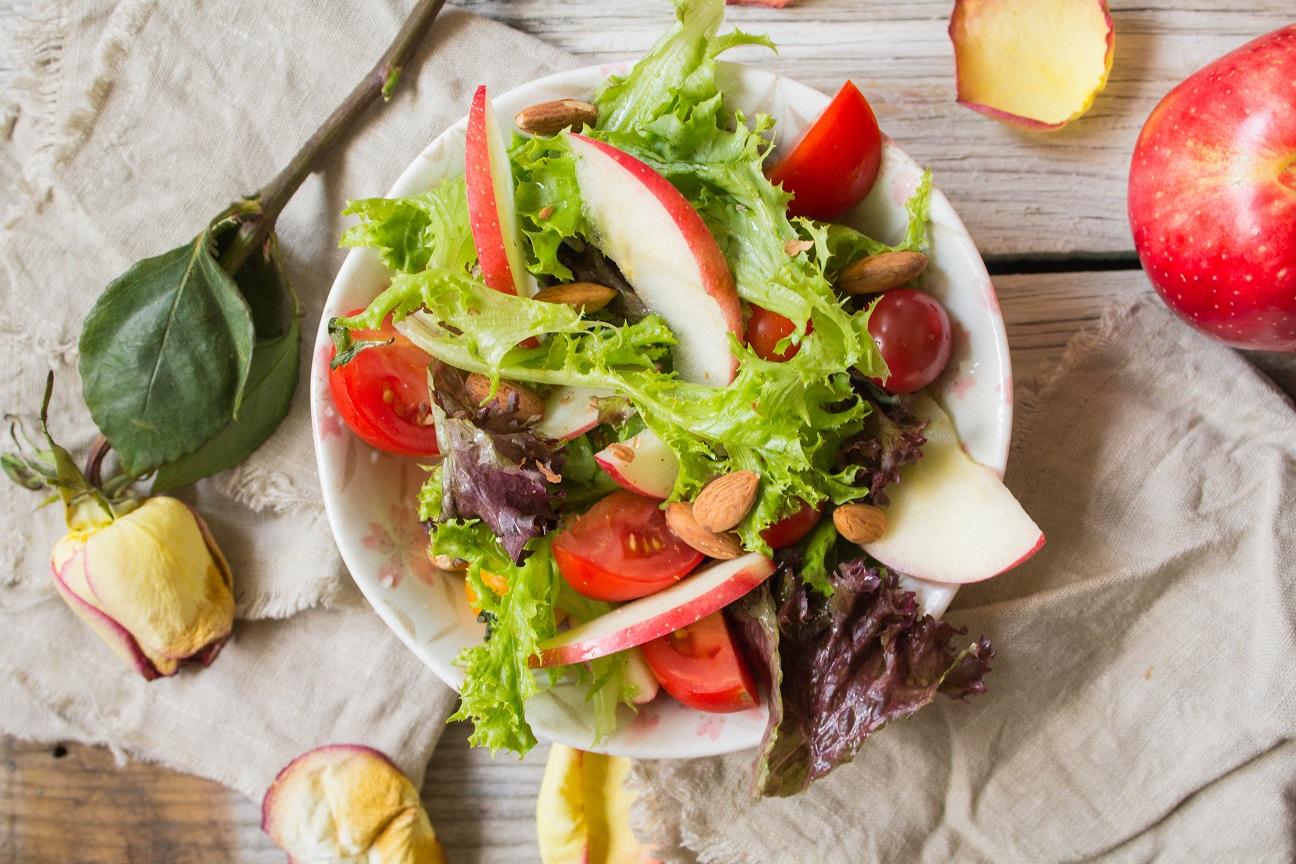 Autumn Apple Salad with Maple Balsamic Vinaigrette