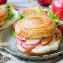 Honey Apple Ham Croissant Melts   Cooking with a Wallflower