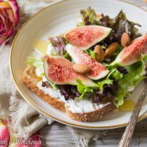 Honey Fig Burrata Toast | Cooking with a Wallflower