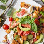 Late Summer Panzanella Style Salad