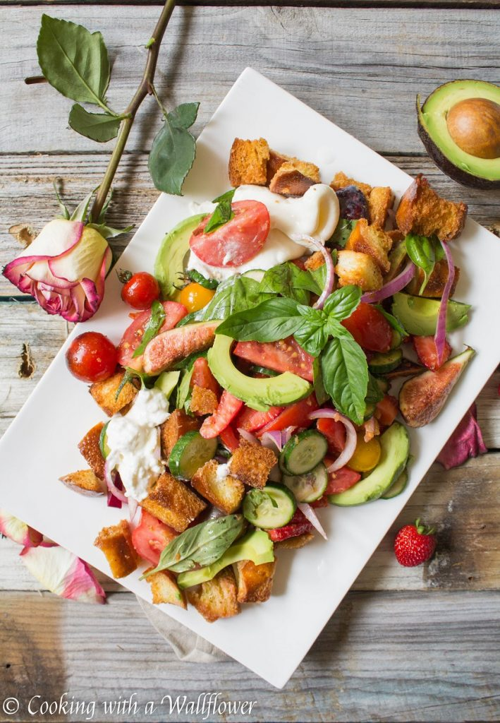 Late Summer Panzanella Style Salad   Cooking with a Wallflower