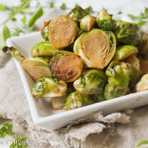 Roasted Honey Sesame Brussels Sprouts   Cooking with a Wallflower