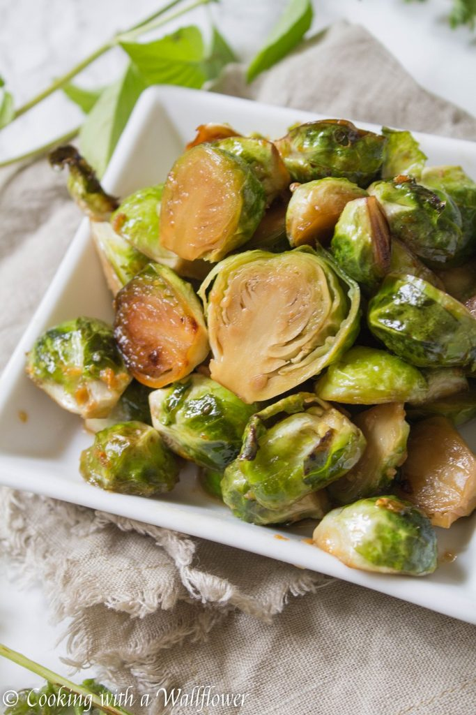 Roasted Honey Sesame Brussels Sprouts | Cooking with a Wallflower