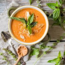 Tuscan Tomato Basil and Bread Soup | Cooking with a Wallflower