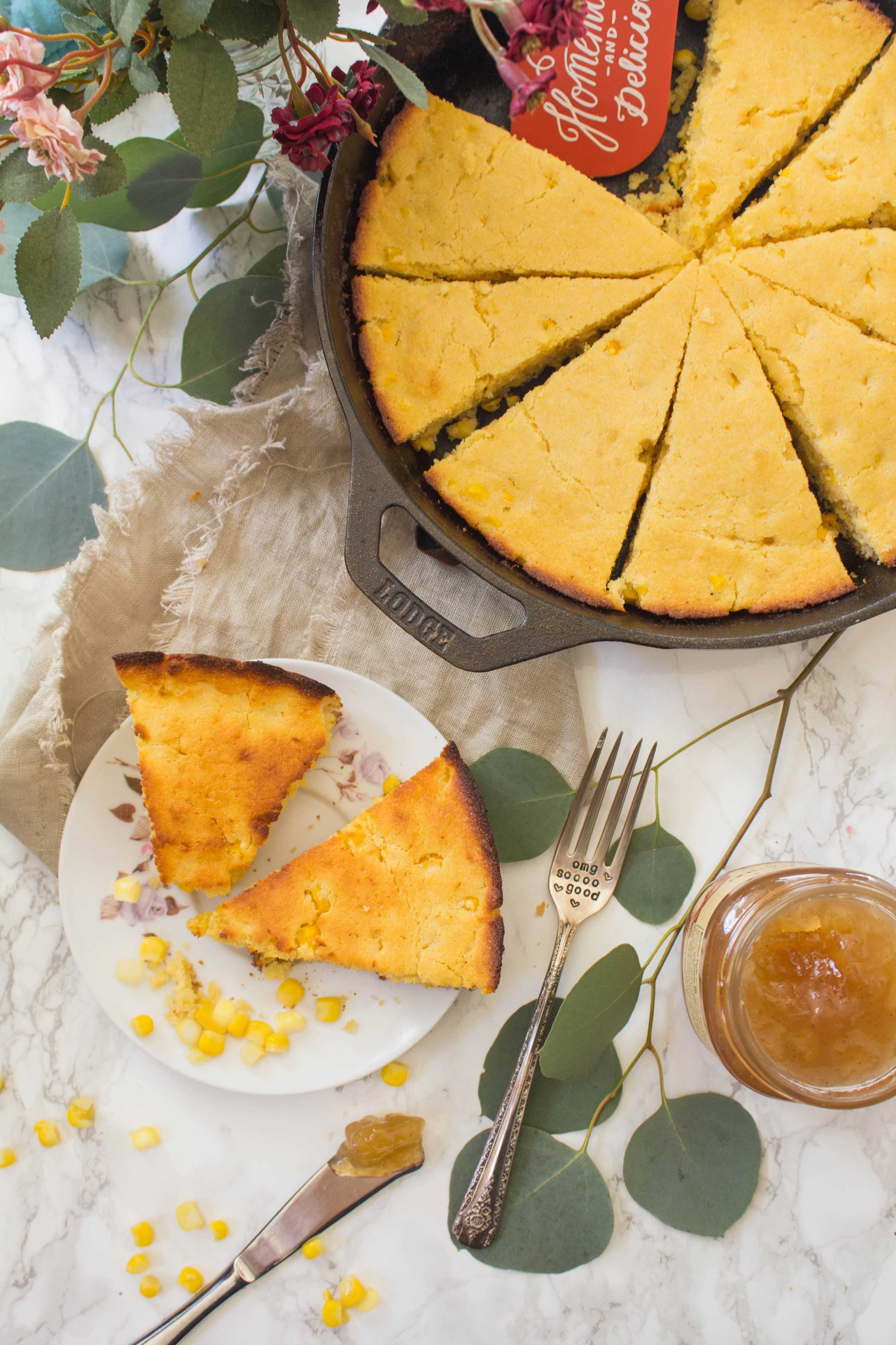 Cast Iron Skillet Honey Maple Cornbread - Cooking with a ...