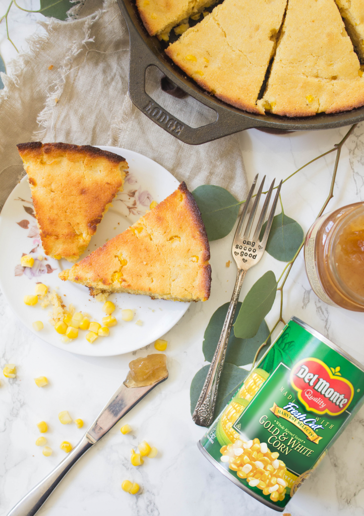 Cast Iron Skillet Honey Maple Cornbread | Cooking with a Wallflower