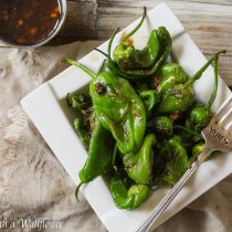 Pan Seared Padron Peppers with Honey Soy Sesame Dipping Sauce   Cooking with a Wallflower