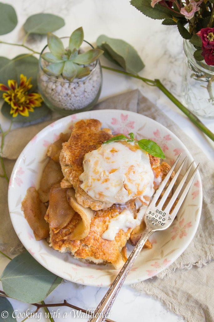 Apple Cobbler à la Mode | Cooking with a Wallflower