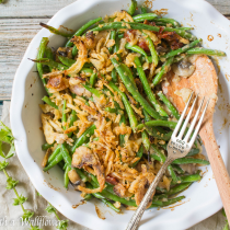 Creamy Green Bean Casserole with Bacon and Mushrooms | Cooking with a Wallflower