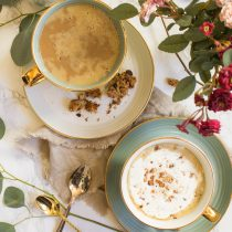 Pumpkin Maple Almond Oatmeal Latte | Cooking with a Wallflower