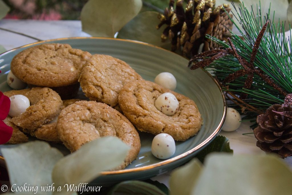 Candy Cane Caramel Stuffed Cookie Butter Cookies | Cooking with a Wallflower