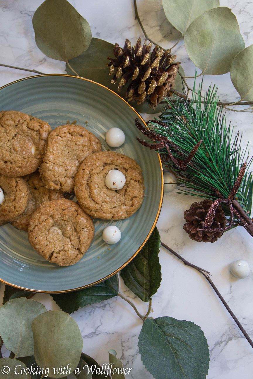 Candy Cane Caramel Stuffed Cookie Butter Cookies