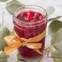 Cranberry Simple Syrup | Cooking with a Wallflower