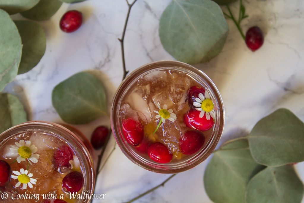 Sparkling Cranberry Apple Cider | Cooking with a Wallflower