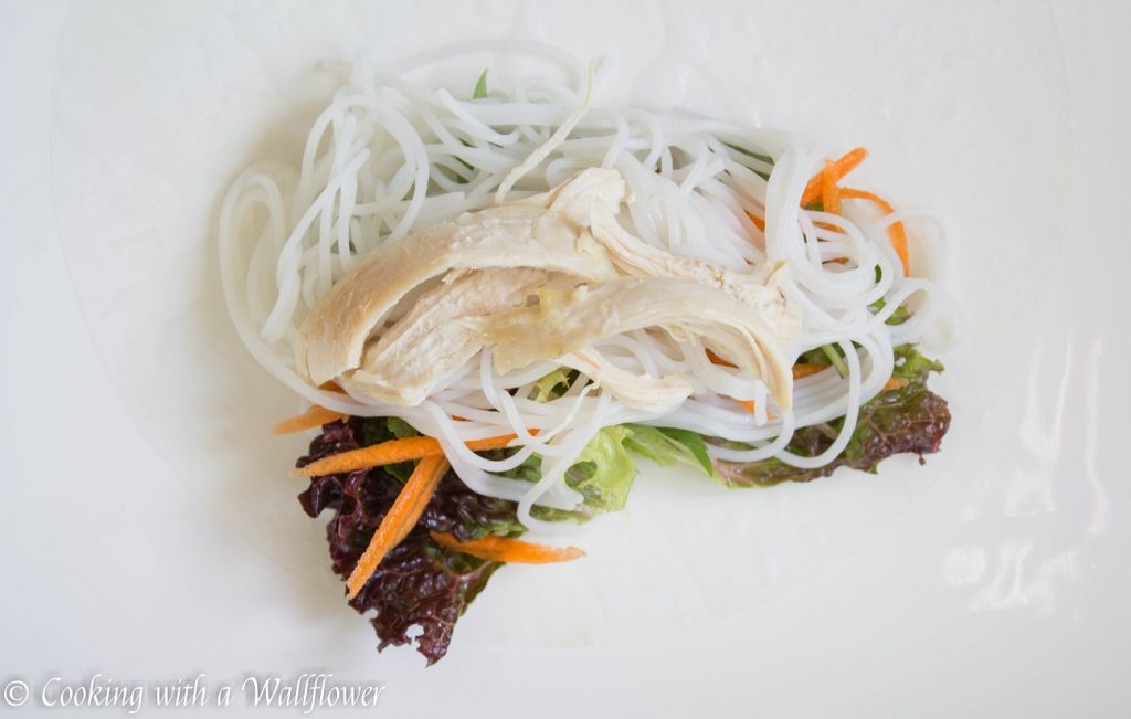 Chicken Spring Rolls with Tamarind Sesame Vinaigrette | Cooking with a Wallflower