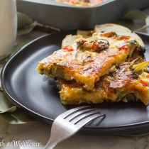 Roasted Vegetable, Bacon, and Egg Breakfast Casserole | Cooking with a Wallflower