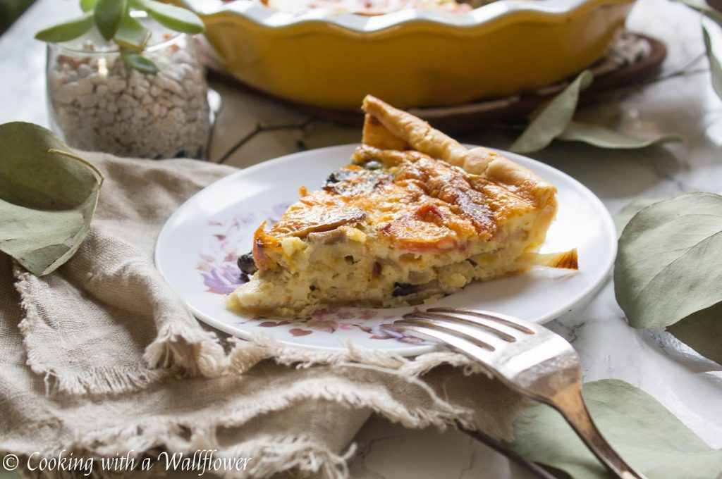 Bacon Mushroom Quiche | Cooking with a Wallflower