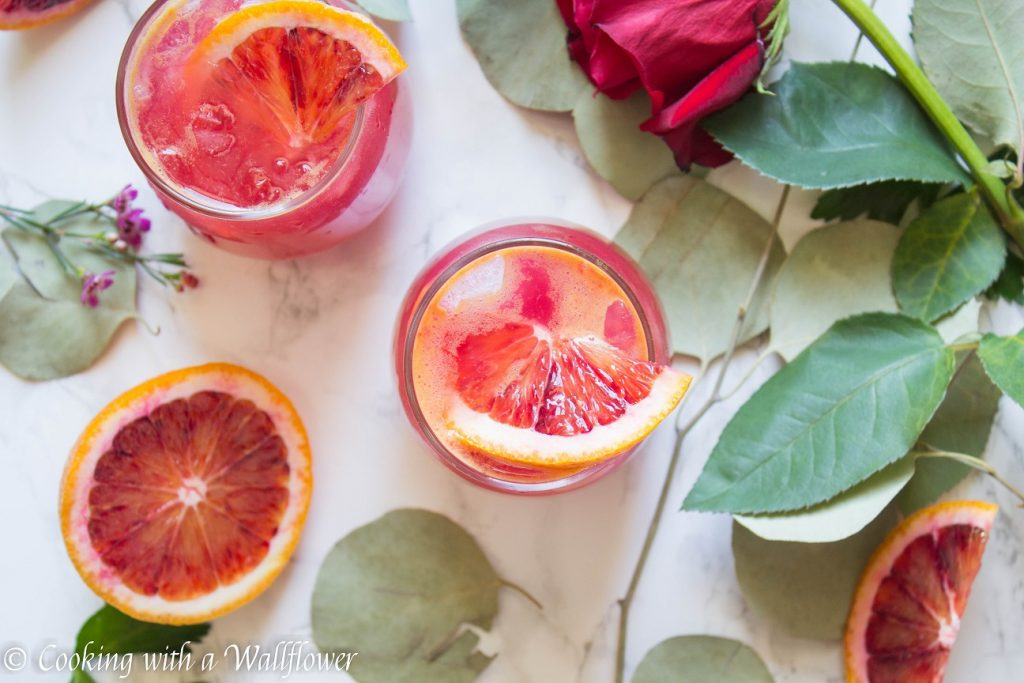 Blood Orange Vodka Soda | Cooking with a Wallflower