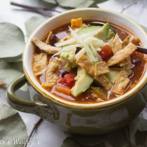 Chicken Tortilla Soup | Cooking with a Wallflower