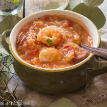 Shrimp Jambalaya Soup | Cooking with a Wallflower