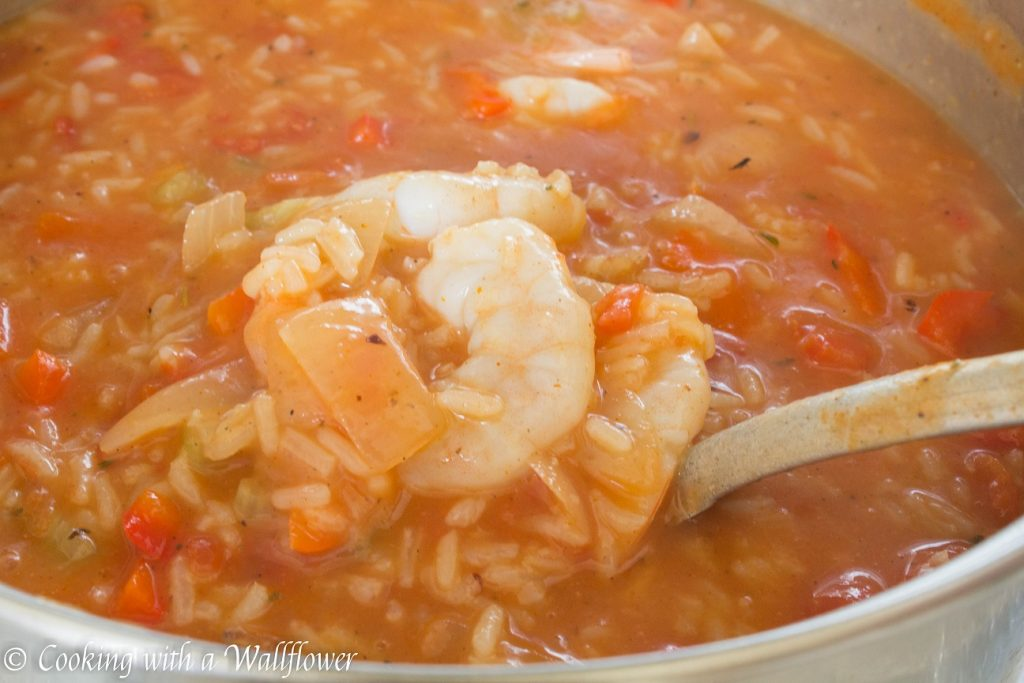 Shrimp Jambalaya Soup | Cooking with a Wallflower