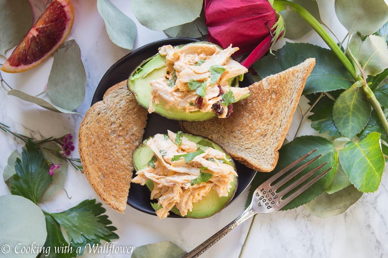 Spicy Chicken Salad in Avocado