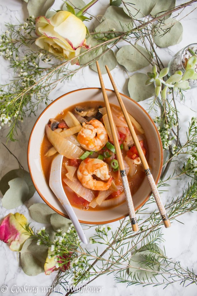 Thai Shrimp Tom Yum Ramen | Cooking with a Wallflower