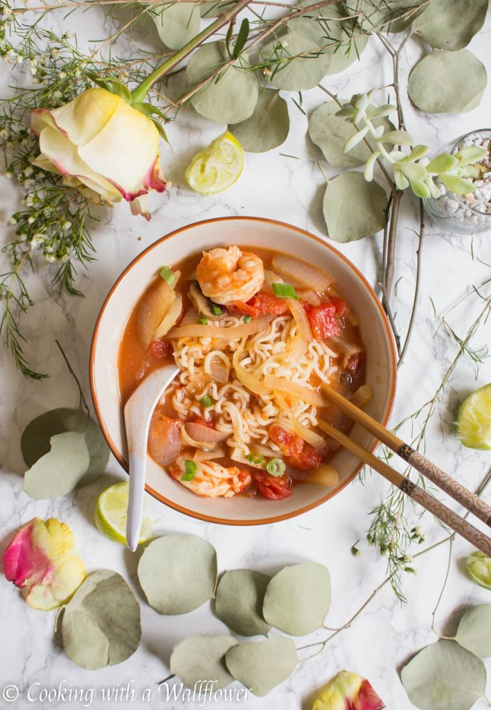 Thai Shrimp Tom Yum Ramen | Cooking with a Wallflower