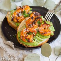 Spicy Honey Chipotle Shrimp Avocado Croissant Melts | Cooking with a Wallflower